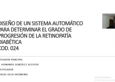 Hernando González A.  Diseño de un sistema automático para determinar el grado de progresión de la retinopatía diabética