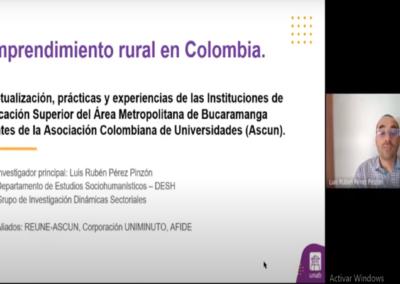 Luis R. Pérez P.  Emprendimiento rural en Colombia. Conceptualización, prácticas y experiencias de las instituciones de educación superior del área metropolitana de Bucaramanga integrantes de la Asociación Colombiana de Universidades (ASCUN).
