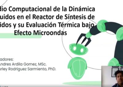 Sergio A. Ardila G.  Estudio computacional de la dinámica de fluidos en el reactor de síntesis de péptidos y su evaluación térmica bajo efecto microondas.