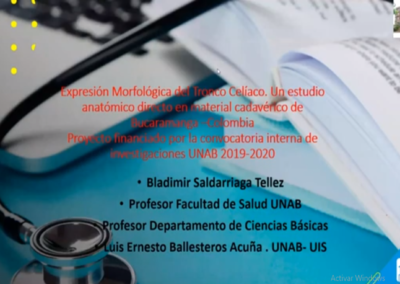 Bladimir Saldarriaga T.  Características morfológicas del tronco celiaco. Un estudio en una muestra de individuos mestizos precedentes de Bucaramanga.