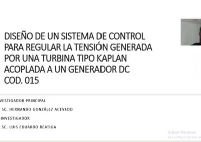 Hernando González A.  Diseño de un sistema de control para regular la tensión generada por una turbina hidráulica tipo Kaplan acoplada a un generador DC