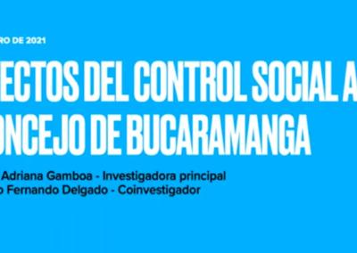 Yudy A. Gamboa V.  Efectos del control social al Concejo de Bucaramanga.