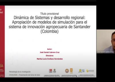 José D. Cabrera C.  Dinámica de Sistemas y el desarrollo regional y sectorial de Ciencia, Tecnología e Innovación. Apropiación de conocimiento para el sistema regional de CTI y el sector agropecuario de Santander (Colombia)