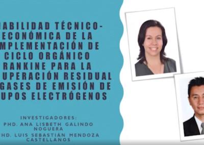 Ana L. Galindo N.  Viabilidad técnico-económica de la implementación de ciclo orgánico rankine para la recuperación residual de gases de emisión de grupos electrógenos.