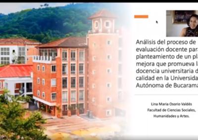 Lina M. Osorio V.  Análisis del proceso de evaluación docente para el planteamiento de un plan de mejora que promueva la docencia universitaria de calidad en la Universidad Autónoma de Bucaramanga