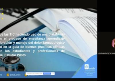 Adriana P. Bonilla M.  Impacto de las TIC haciendo uso de una plataforma virtual en el proceso de enseñanza aprendizaje sobre valoración y manejo del dolor farmacológico propuesto en la guía de buenas prácticas clínicas RNAO  en los estudiantes y profesionales de enfermería.