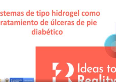 Jhair E. Ávila Q.  Angie V. Pinzón M.  Desarrollo de una matriz polimérica para la aplicación de derivados acelulares provenientes de células madre mesenquimales como potencial tratamiento para úlceras cutáneas crónicas: modelo pre-clínico en diabetes tipo 1 joven inv.