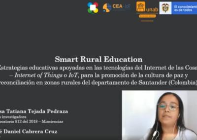 Luisa T. Tejada P. Smart Rural Education: Estrategias educativas apoyadas en las tecnologías Internet de las Cosas – Internet of Things o IoT, para la promoción de la cultura de paz y reconciliación en zonas rurales del Departamento de Santander (Colombia)